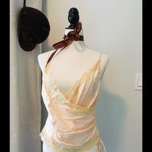 Moda International Silk Champagne Camisole